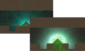 設計前の光線追跡図